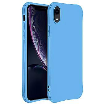 Coque Apple iPhone XR Silicone Flexible Bumper Résistant - bleu
