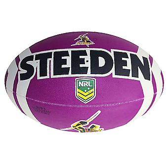 Steeden NRL Melbourne Storm Supporter 2020 Rugby League Ball Purple/White