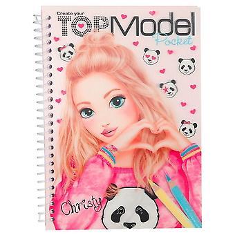Top Model Pocket colorear libro 3D