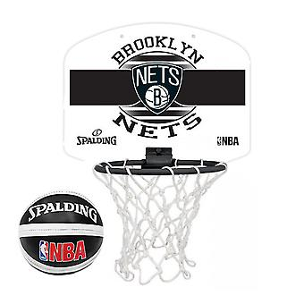 Spalding Brooklyn Nets NBA Miniboard Basketball Ring Net & Ball Set