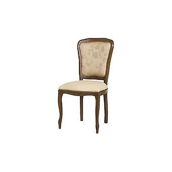Hayley Chair Couleur Noyer, Crème en bois, L50xP50xA90 cm