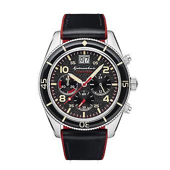Spinnaker SP-5085-01 Gent-apos;s Fleuss Black Dial Wrwatch