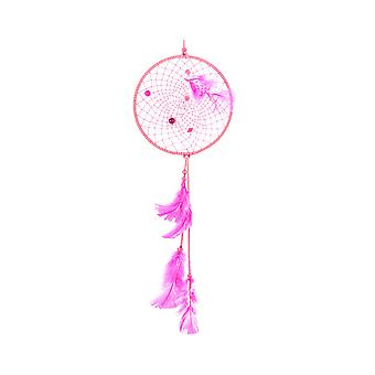 Pink Feather Indian Dream Catcher Making Craft Kit - Maakt 1