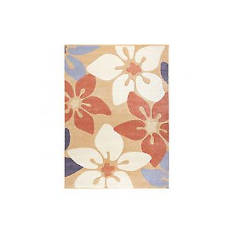Rug FEEL 1602/17911 Flowers beige/terracotta/violet