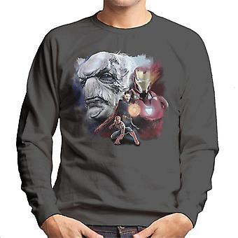 Marvel Avengers Infinity Krieg Ebenholz Maw Montage Herren Sweatshirt