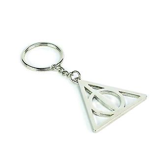 Harry Potter Keyring Deathly Hallows new Official Silver Metal Keychain