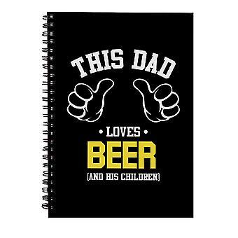 Denne faren elsker øl og hans barn spiral notebook