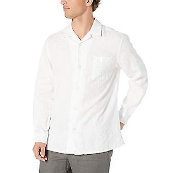 28 Palms Men's Relaxed-Fit Long-Sleeve 100% Linnen geborduurd Guayabera Shirt...