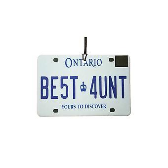 ONTARIO - Best Aunt License Plate Car Air Freshener