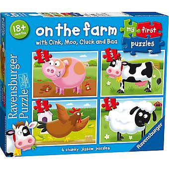 Ravensburger On the Farm My First Jigsaw Puzzles (2,3,4,5pc)