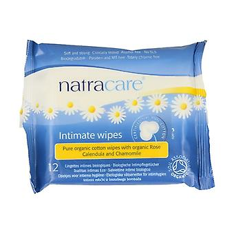 Natracare Intimate Wipes 12 units