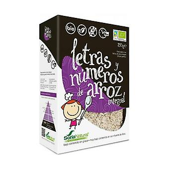 Brown Rice Letters and Numbers 250 g