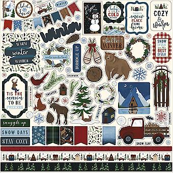 Echo Park Warm & Cozy 12x12 Inch Element Sticker