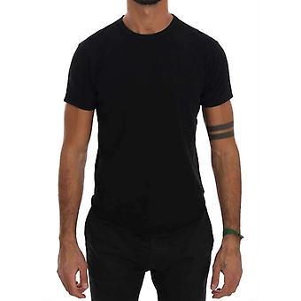 Daniele Alessandrini Black Cotton Rundhals T-Shirt--TSH1242864