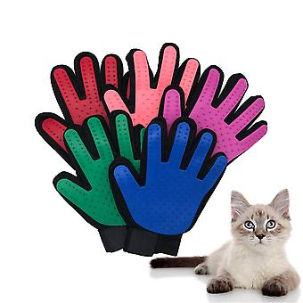 Cat Grooming Gloves Cats, Pet Gloves Hair Deshedding Brush Comb Glove