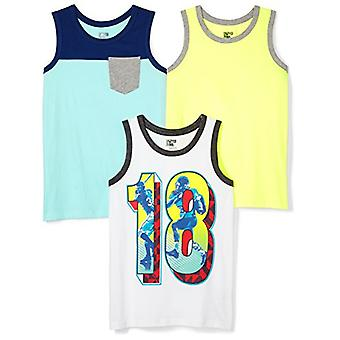 Spotted Zebra Big Boys' 3-Pack Sleeveless Tank Tops, Sports, Large (10)