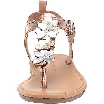 carter's Girl's Nala Flower T-Strap Sandal, Multi, 4 M US Toddler