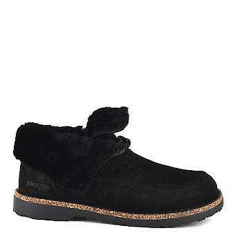 بيركينستوك باككي سويد أحذية سوداء هيدروفوبي