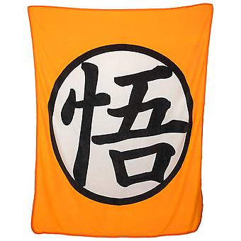 Dragon Ball Goku Symbol Throw Blanket