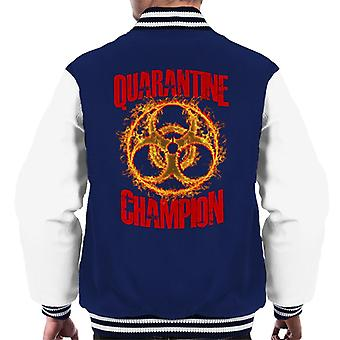 En quarantaine Champion Men-apos;s Varsity Jacket