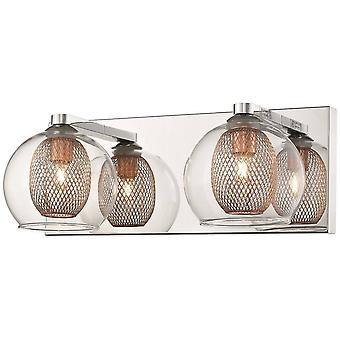 2 Ljus inomhus vägg ljus mesh krom, koppar, G9