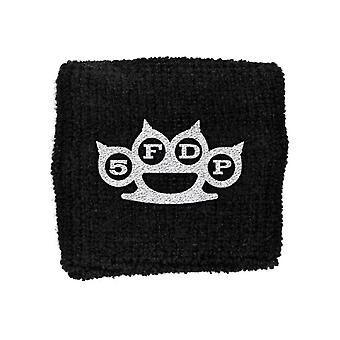 Five Finger Death Punch Knuckles logo New Official black Cotton Sweatband