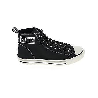 Valentino Garavani Uy2s0d51mbu0no Men's Black Fabric Hi Top Sneakers