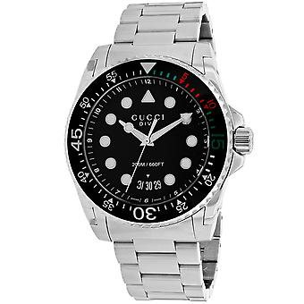 Gucci Men's Dive Black Dial Watch - YA136208A