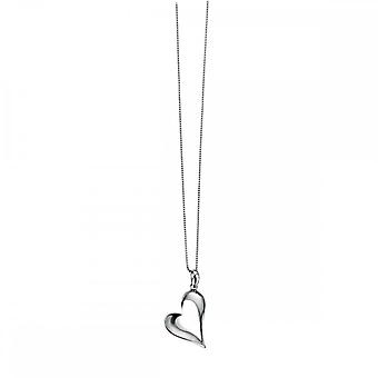 Начало стерлингового серебра Полированное сердце Кулон P2807