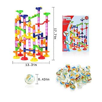 Construction Marble Race Run Track Building Blocks Kids Maze Ball Éducatif