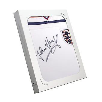 Glenn Hoddle signerte England 1982 skjorte. I gaveeske
