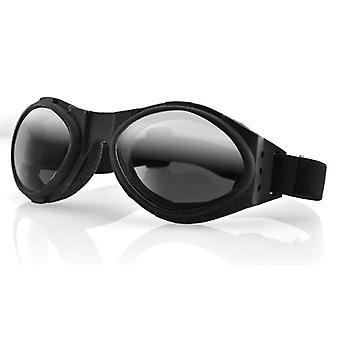 Balboa BA001R Bugeye Black Frame Goggle - getöntes reflektierendes Glas