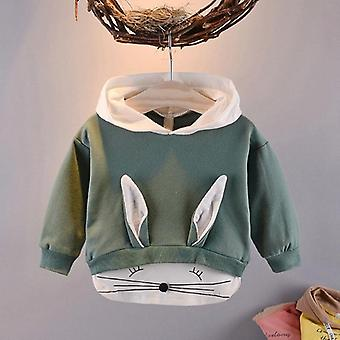 Spring Autumn Baby Kids Boys Long Sleeve Cute Sweet Cartoon Rabbit Hooded