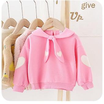 Baby Girl Spring Autumn Sweet Love Cute Cotton T-shirt Long Sleeve Polka Tops T-shirts