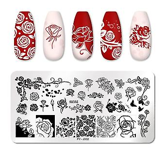 Nail Stamping Plates-line Pictures Stencil, Stainless Steel Design For Nails