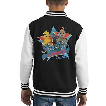 Sooty & Sweep Retro Water Sproeier Kid's Varsity Jacket