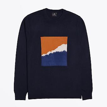 PS Paul Smith  - Merino-Blend Mountain Sweater - Dark Navy