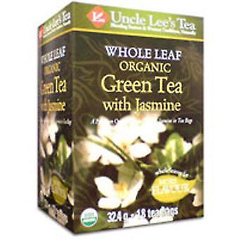 Uncle Lees Teas Organic Whole Leaf Jasmine Green Tea, 18 Bags