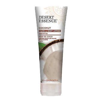 Desert Essence Hand & Body Lotion, Coconut 8 Oz