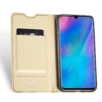 حالة جلدية لـ Huawei Y6 Pro / Y6 (2019) الذهب DUX DUCIS-342