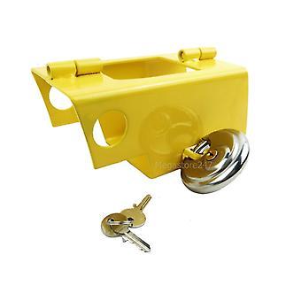 Hyfive heavy duty hitch lock for caravan/trailer stainless steel with padlock security lock for caravan