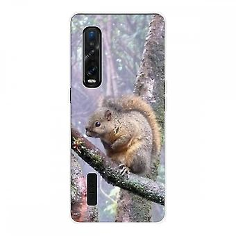 Hull For Oppo Find X2 Pro In Silicone Soft 1 Mm, Squirrel