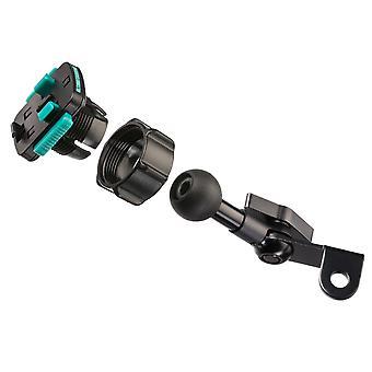 Moottoripyörä metalli peili mount vedenpitävä kova tapauksessa sarjat - universal fit puhelimet