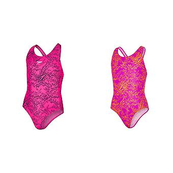 Speedo Girls Boom Allover Splashback Yksiosainen uimapuku
