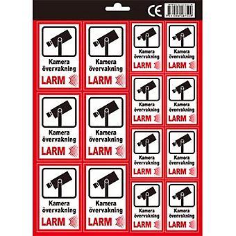 Stickers Alarm sticker lijmalarm inbraakalarm camera
