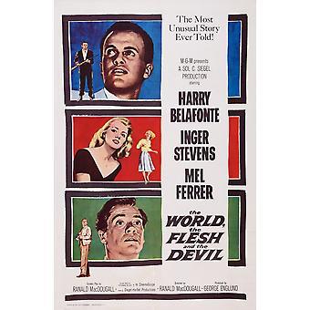 The World The Flesh And The Devil Us Poster Art From Top Harry Belafonte Inger Stevens Mel Ferrer 1959 Movie Poster Masterprint