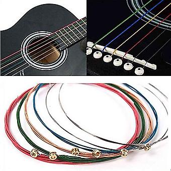 Acoustic Guitar Strings Rainbow Colorful E-a Acoustic Folk Classic Multi Color