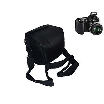 B.V. jo snug fit case bag compatibel met nikon coolpix l340 l330, canon powershot sx420 sx430 is sx