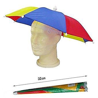 Dames mens adulte multi couleur festival essential parapluie chapeau de pluie fantaisie robe bleu /rouge/jaune 32cm