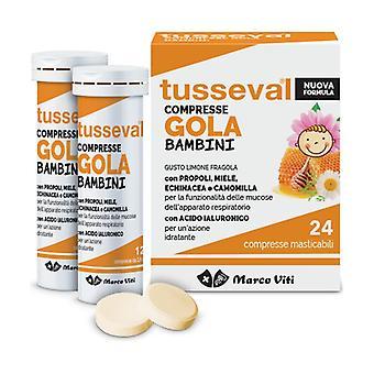 Tusseval Tablets Throat Children 24 tablets